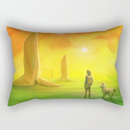 Contemplating an orange world Rectangular Pillow
