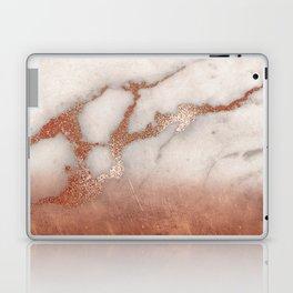 Shiny Copper Metal Foil Gold Ombre Bohemian Marble Laptop & iPad Skin