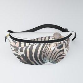 Zebra Face Head  Fanny Pack