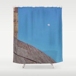 Angled Moon Shower Curtain