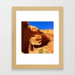 Red Rock Arch Framed Art Print