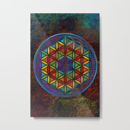 The Flower of Life (Sacred Geometry) 3 Metal Print