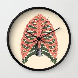 Floral ribcage Wall Clock