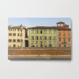 Pisa in color Tuscany Italy Metal Print