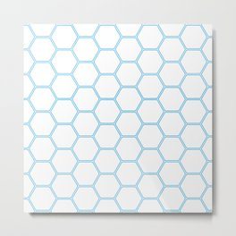 Honeycomb Blue #370 Metal Print