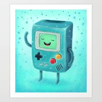 game Art Prints featuring Game Beemo by Lime