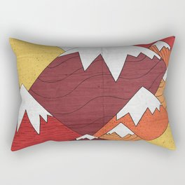 Three Moon Mounts Rectangular Pillow