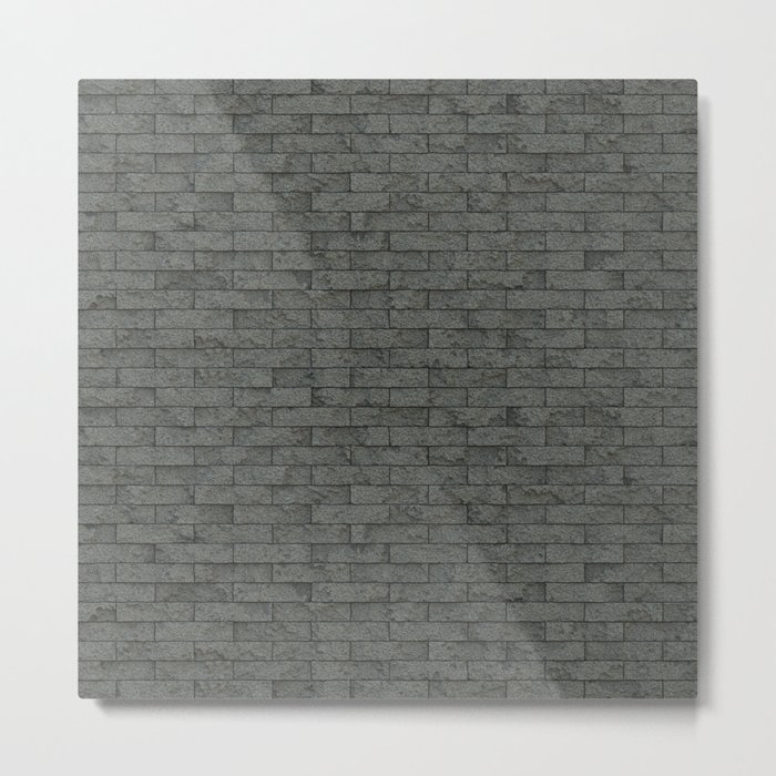 Grey Stone Bricks Wall Texture Metal Print
