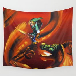Link Vs Volvagia Wall Tapestry