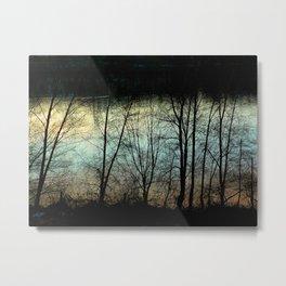 Evening River Metal Print