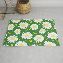 Spring Daisies 001 on Green Rug