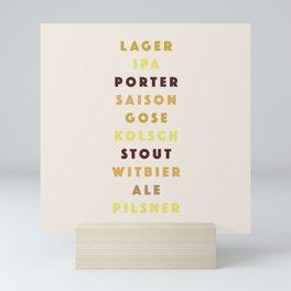 Beer List Mini Art Print