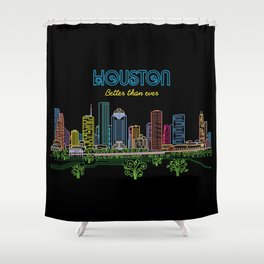 Houston Better Than Ever Circuit Shower Curtain