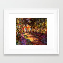 Garden Path at Giverny - Claude Monet 1902 Framed Art Print