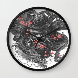 Sleeve tattoo Samurai Irezumi Wall Clock