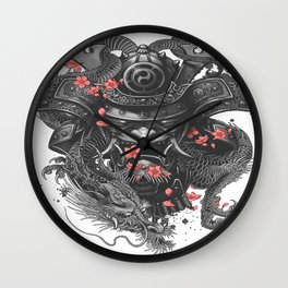 Sleeve tattoo Samurai Irezumi Wall Clock