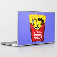 french fries Laptop & iPad Skins featuring French Fries by Kleviee