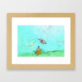 Pond Life Framed Art Print
