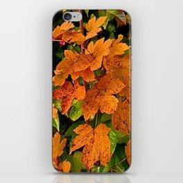 glowing autumn leafs iPhone Skin