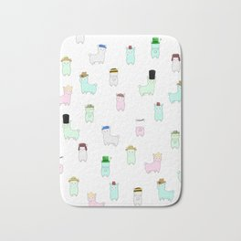 Alpacas with Hats - 'Pacas Around the World Bath Mat