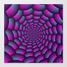 Ball Spiral in Pink Blue and Purple Canvas Print