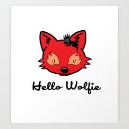 Hello Wolfie Art Print