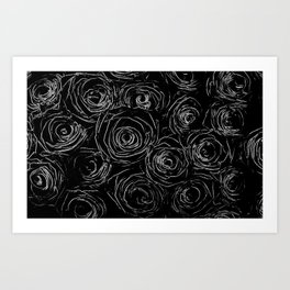 Black White Abstract Art Print