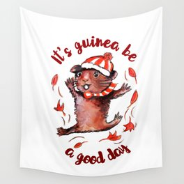 Happy Guinea Pig Wall Tapestry
