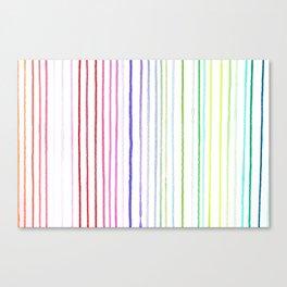 RAINBOW WATERCOLOR LINES Canvas Print