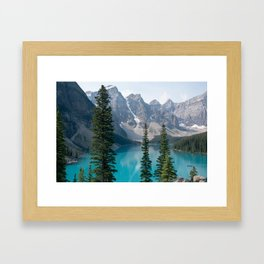 Moraine Lake - Trees Framed Art Print