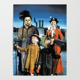 Michael Myers in Mary Poppins Poster