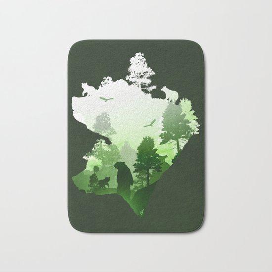 Green Bears Bath Mat