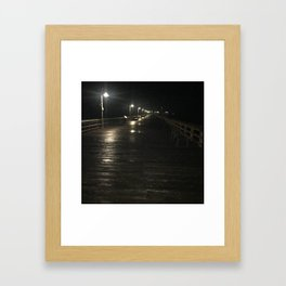 A walk alone Framed Art Print