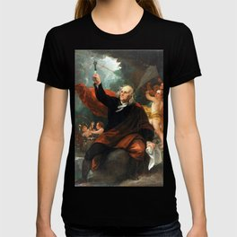Benjamin West Benjamin Franklin Drawing Electricity from the Sky T-shirt