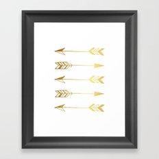 Faux gold foil arrows Framed Art Print