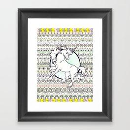Unicorn Party Framed Art Print
