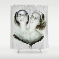 ahs Shower Curtains featuring Bette and Dot Tattler by beart24