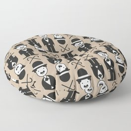 Charlie Chaplin Pattern Floor Pillow