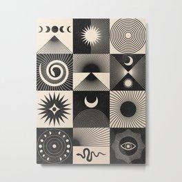 Esoteric Patchwork  Metal Print