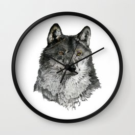 Season of the Wolf - A Study in Pencil Wall Clock