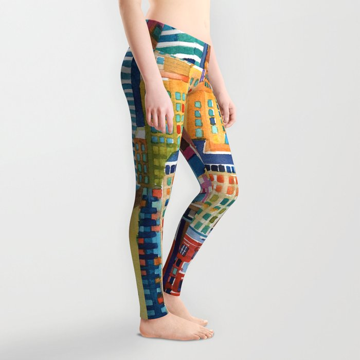 New York buildings Leggings