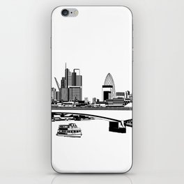 London Black and White iPhone Skin