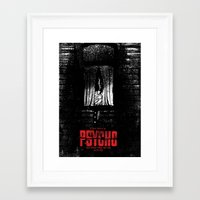 psycho Framed Art Prints featuring Psycho by Dan K Norris