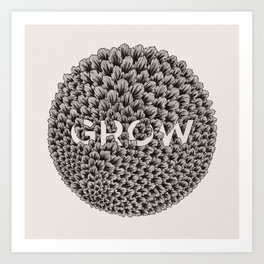 GROW - white Art Print