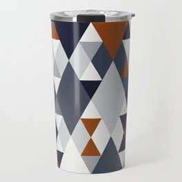 Navy Rust Geometry III Travel Mug