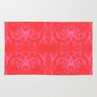 flamingo Area & Throw Rugs featuring Flamingo by huemula