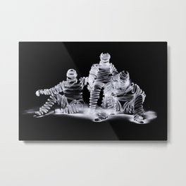 Me Myself and I a long exposure light painting photograp Metal Print