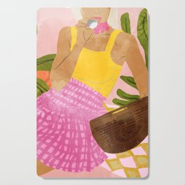 Flower Talk #illustration #painting Cutting Board