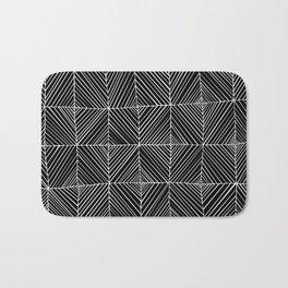 Black Diagonals Pattern Bath Mat