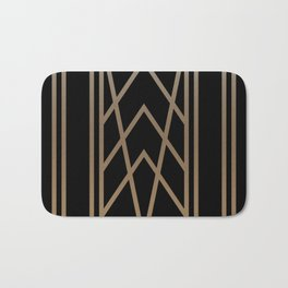 BLACK&GOLD 2 (abstract artdeco geometric) Bath Mat